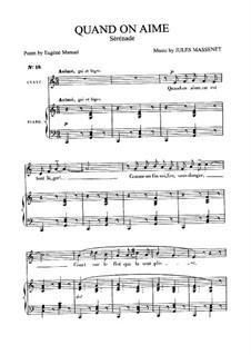 Quand on aime: Für Mittelstimme und Klavier by Jules Massenet