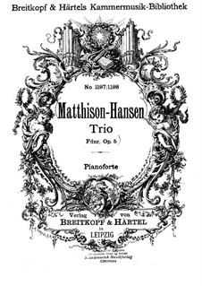 Klaviertrio in F-Dur, Op.5: Vollpartitur by Gottfred Matthison-Hansen