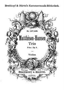 Klaviertrio in F-Dur, Op.5: Violinstimme by Gottfred Matthison-Hansen