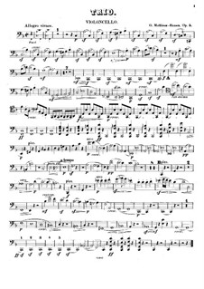 Klaviertrio in F-Dur, Op.5: Cellostimme by Gottfred Matthison-Hansen