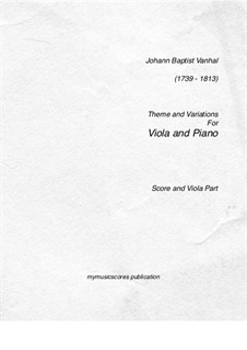 Theme and Variations: Thema und Variationen by Johann Vanhal