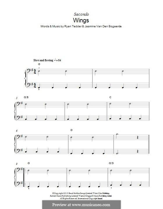 Wings: Für Klavier by Birdy, Ryan B Tedder