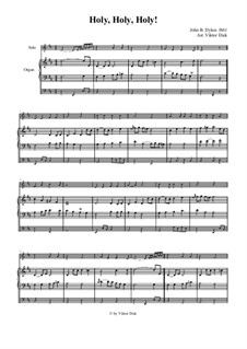 Holy, Holy, Holy! Lord God Almighty: Für Violine und Orgel by John Bacchus Dykes