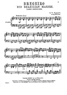Brejeiro (Tango Breseiliene): Für Klavier (version by Wm. Penn) by Ernesto Nazareth