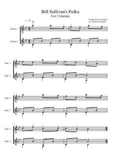 Bill Sullivan's Polka: For two guitars (B flat Major) by folklore