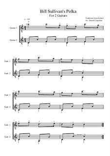 Bill Sullivan's Polka: For two guitars (C Major) by folklore