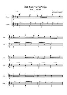 Bill Sullivan's Polka: For two guitars (D Major) by folklore
