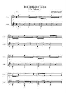 Bill Sullivan's Polka: For two guitars (G Major) by folklore