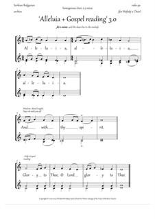 Alleluia and Gospel singing (3.0, Dm, 2-3vx, homog.ch.) - EN: Alleluia and Gospel singing (3.0, Dm, 2-3vx, homog.ch.) - EN by Rada Po