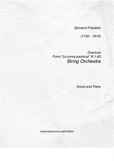 Overture: Ouvertüre by Giovanni Paisiello