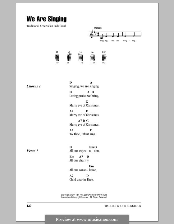 We are Singing: Für Ukulele by folklore