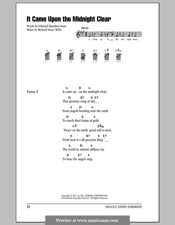It Came upon the Midnight Clear: Für Ukulele by Richard Storrs Willis