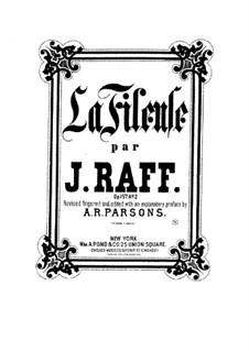 Zwei Stücke für Klavier, Op.157: No.2 La Fileuse (The Spinning Girl) by Joachim Raff