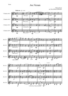 Ave Verum: For four clarinets by William Byrd