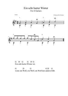 Ein sehr harter Winter: Für Quartette (G-Dur) by folklore