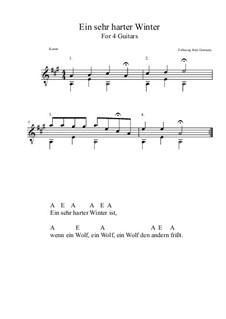 Ein sehr harter Winter: Für Quartette (A-Dur) by folklore