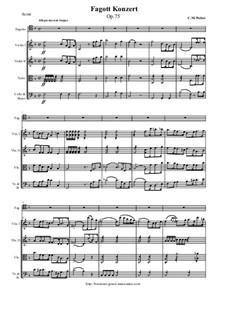 Konzert für Fagott und Orchester, J.127 Op.75: Vollpartitur, Stimmen by Carl Maria von Weber