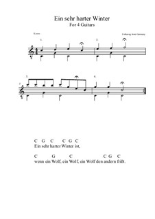 Ein sehr harter Winter: Für Quartette (C-Dur) by folklore