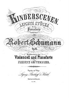 Vollständiger Satz: Für Cello und Klavier by Robert Schumann