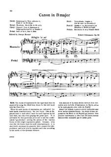Studien in kanonischer Form, Op.56: Nr.6 in H-Dur by Robert Schumann