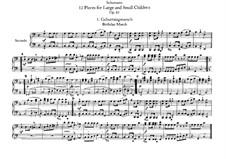 Zwölf Stücke für Klavier, vierhändig, Op.85: Vollsammlung – Stimmen by Robert Schumann