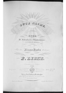 Nr.1 Gute Nacht: Für Klavier, S.561 No.1 by Franz Schubert