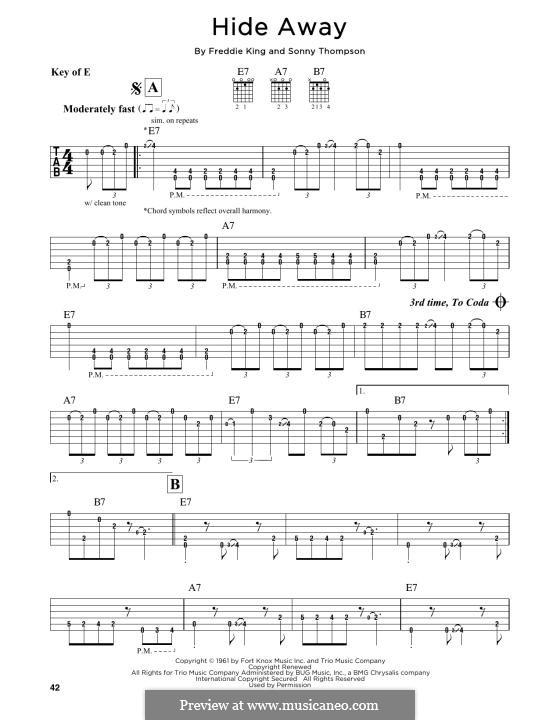 Hide Away: Für Gitarre by Sonny Thompson