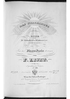 Nr.21 Das Wirtshaus: Bearbeitung für Klavier, S.561 No.10 by Franz Schubert