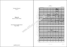 Marsch über ein russisches Thema, Op.76: For wind band by Alexander Glazunov