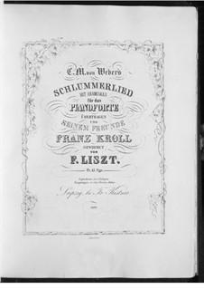 Schlummerlied, Op.68: Für Klavier, S.454 by Carl Maria von Weber