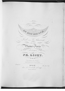 Du bist die Ruh, D.776 Op.59 No.3: Für Klavier, S.558 No.3 by Franz Schubert