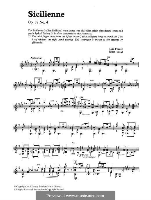 Sicilienne: Für Gitarre by José Ferrer