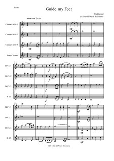 Guide my Feet: For clarinet quartet by folklore