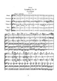 Sinfonie Nr.14 in A-Dur, K.114: Sinfonie Nr.14 in A-Dur by Wolfgang Amadeus Mozart