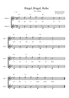 Ringel, Ringel, Reihe: For two guitars (B flat Major) by Unknown (works before 1850)