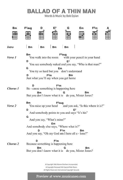 Ballad of a Thin Man: Text und Akkorde by Bob Dylan