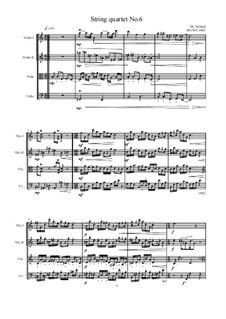 String quartet No.6, MVWV 1043: String quartet No.6 by Maurice Verheul