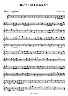 Du grosser Gott, wenn ich die Welt betrachte: Für Altsaxophon by folklore