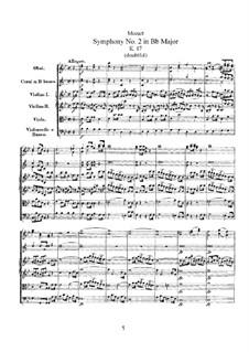Sinfonie Nr.2 in B-Dur, K.17: Sinfonie Nr.2 in B-Dur by Wolfgang Amadeus Mozart