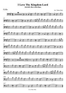 Ich liebe Herr dein Haus: Für Cello by folklore