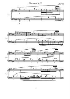 Nocturne for piano No.27, MVWV 1044: Nocturne for piano No.27 by Maurice Verheul