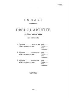 Drei Quartette ür Flöte und Streicher, K.285b, 285, 298: Violastimme by Wolfgang Amadeus Mozart