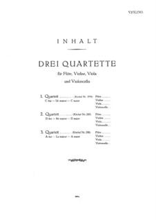 Drei Quartette ür Flöte und Streicher, K.285b, 285, 298: Violinstimme by Wolfgang Amadeus Mozart