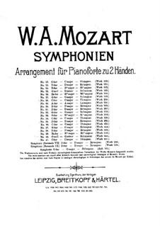 Sinfonie Nr.31 in D-Dur 'Pariser', K.297: Bearbeitung für Klavier by Wolfgang Amadeus Mozart
