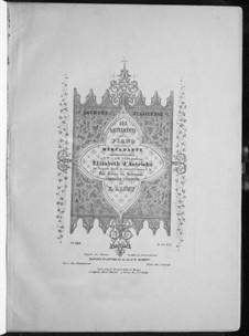 Soirées italiennes. Sechs Stücke über Themen von Mercadante, S.411: Stücke Nr.1-3 by Franz Liszt
