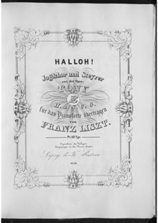 Transkription über Themen aus 'Tony' von E.H.z.S.C.G, S.404: Transkription über Themen aus 'Tony' von E.H.z.S.C.G by Franz Liszt