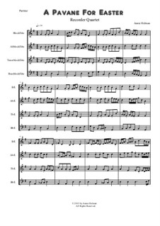 A Pavane for Easter: For quartet recorder by Annie Helman