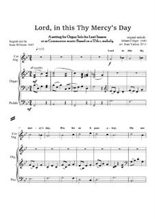 Lord, in this Thy Mercy's Day - Lenten Anthem: Für Orgel by Johann Crüger