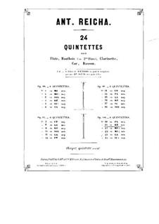 Holzbläserquintett in d-Moll, Op.100 No.2: Klarinettenstimme by Anton Reicha