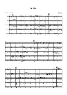 La Volta: For wind quintet - score by William Byrd